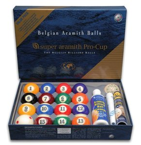 Poolkugeln  57.2 mm Super Aramith pro Value Pack